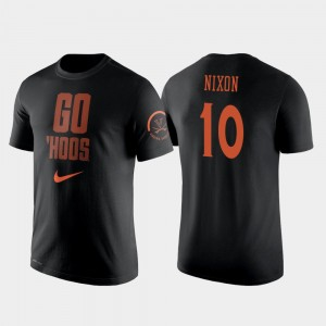 Virginia Cavaliers Jayden Nixon T-Shirt 2 Hit Performance For Men #10 College Basketball Black
