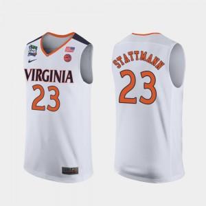Virginia Cavaliers Kody Stattmann Jersey 2019 Final-Four White Men's #23