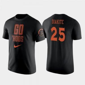 Virginia Cavaliers Mamadi Diakite T-Shirt Black Men's #25 2 Hit Performance College Basketball