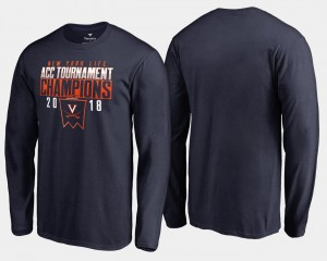 Virginia Cavaliers T-Shirt Basketball Conference Tournament For Men 2018 ACC Champions Long Sleeve Navy