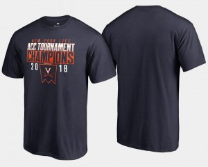 Virginia Cavaliers T-Shirt 2018 ACC Champions Basketball Conference Tournament Mens Navy