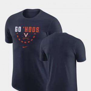 Virginia Cavaliers T-Shirt Men Navy Basketball Team