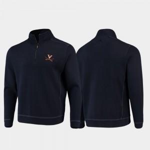 Virginia Cavaliers Jacket Navy Half-Zip Pullover Tommy Bahama College Sport Nassau Men's
