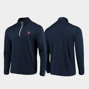 Virginia Cavaliers Jacket Navy Men Quarter-Zip Performance Gameday