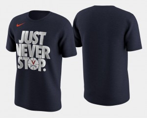 Virginia Cavaliers T-Shirt March Madness Selection Sunday Mens Basketball Tournament Just Never Stop Navy