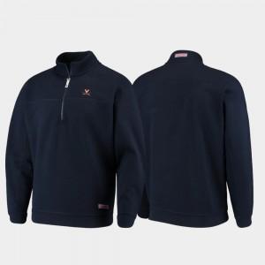Virginia Cavaliers Jacket Shep Shirt Navy Mens Quarter-Zip