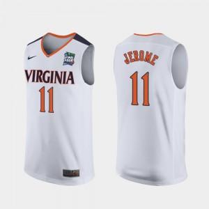 Virginia Cavaliers Ty Jerome Jersey White 2019 Final-Four Replica Men's #11