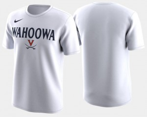 Virginia Cavaliers T-Shirt 2018 March Madness Bench Legend Performance White For Men Basketball Tournament