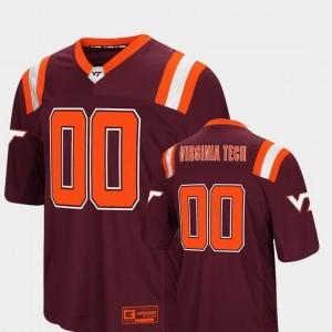 Virginia Tech Hokies Jersey Colosseum Authentic Maroon #00 Foos-Ball Football Men's