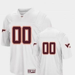 Virginia Tech Hokies Jersey Colosseum Authentic #00 College Football White Men