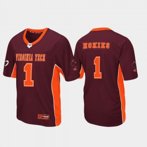 Virginia Tech Hokies Jersey Maroon Men's #1 Max Power Football