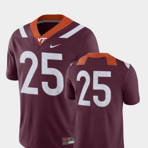 Virginia Tech Hokies Jersey Maroon 2018 Game Mens College Football #25