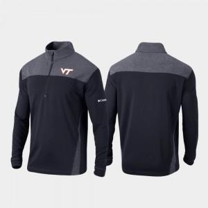 Virginia Tech Hokies Jacket Black Omni-Wick Standard Men's Quarter-Zip Pullover