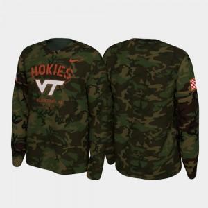 Virginia Tech Hokies T-Shirt For Men 2019 Veterans Day Legend Long Sleeve Camo