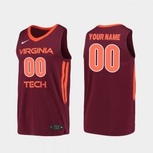 Virginia Tech Hokies Custom Jerseys For Men's Replica #00 2019-20 College Basketball Maroon