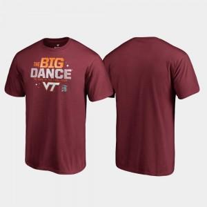 Virginia Tech Hokies T-Shirt Garnet March Madness 2019 NCAA Basketball Tournament For Men's Big Dance