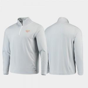 Virginia Tech Hokies Jacket Quarter-Zip Performance Gameday For Men's Gray