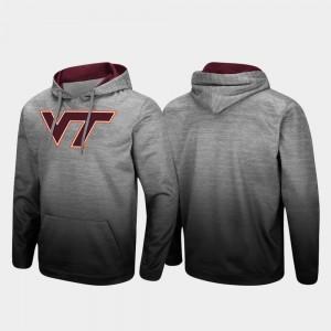 Virginia Tech Hokies Hoodie Pullover Mens Heathered Gray Sitwell Sublimated