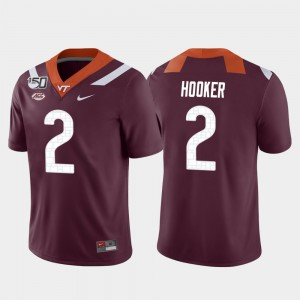 Virginia Tech Hokies Hendon Hooker Jersey Maroon Game College Football For Men's #2