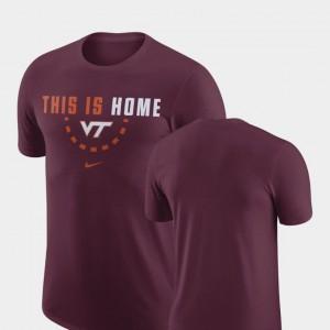 Virginia Tech Hokies T-Shirt Maroon Basketball Team Men's