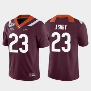 Virginia Tech Hokies Rayshard Ashby Jersey Maroon Game College Football #23 Mens