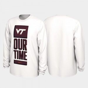 Virginia Tech Hokies T-Shirt White Men Our Time Bench Legend 2020 March Madness