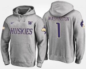 Washington Huskies Hoodie #1 Gray Men No.1