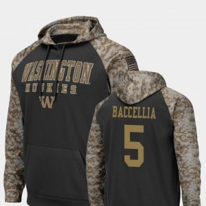 Washington Huskies Andre Baccellia Hoodie United We Stand Colosseum Football For Men #5 Charcoal