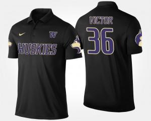 Washington Huskies Azeem Victor Polo Black Mens #36
