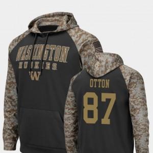 Washington Huskies Cade Otton Hoodie Colosseum Football United We Stand #87 Charcoal For Men