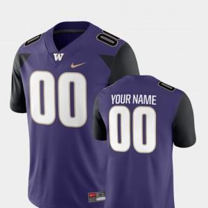 Washington Huskies Customized Jersey College Football For Men's #00 2018 Game Purple