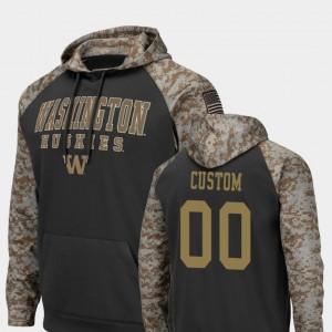 Washington Huskies Custom Hoodie United We Stand Men Charcoal Colosseum Football #00