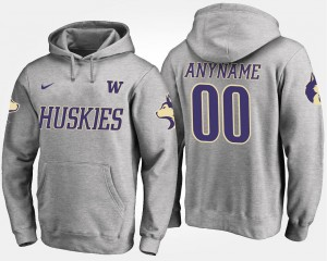 Washington Huskies Customized Hoodie For Men Gray #00