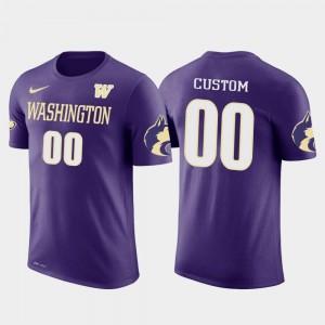 Washington Huskies Customized T-Shirts Cotton Football Mens Future Stars Purple #00