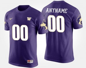 Washington Huskies Custom T-Shirts #00 For Men Purple