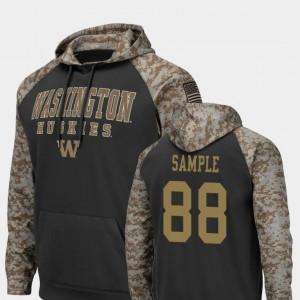 Washington Huskies Drew Sample Hoodie Colosseum Football For Men United We Stand Charcoal #88