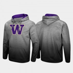 Washington Huskies Hoodie Heathered Gray Pullover Sitwell Sublimated For Men