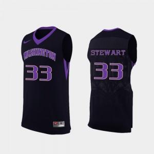 Washington Huskies Isaiah Stewart Jersey Replica Men's College Basketball Black #33