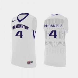 Washington Huskies Jaden McDaniels Jersey Replica White Mens College Basketball #4