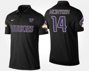 Washington Huskies JoJo McIntosh Polo #14 Black Men