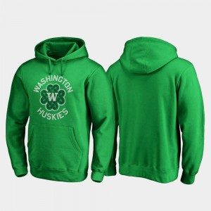Washington Huskies Hoodie Kelly Green St. Patrick's Day Mens Luck Tradition