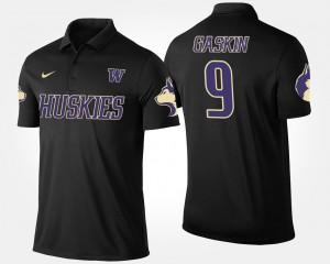 Washington Huskies Myles Gaskin Polo For Men's Black #9