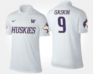 Washington Huskies Myles Gaskin Polo White #9 Men