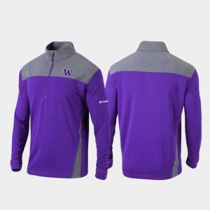 Washington Huskies Jacket Quarter-Zip Pullover Purple Omni-Wick Standard For Men