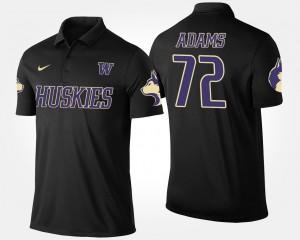 Washington Huskies Trey Adams Polo Black #72 Men's