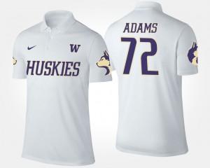 Washington Huskies Trey Adams Polo White Mens #72