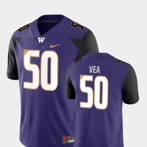 Washington Huskies Vita Vea Jersey College Football #50 Purple Game Men