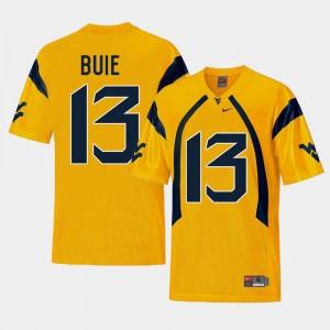 West Virginia Mountaineers Andrew Buie Jersey Gold Men College Football Replica #13