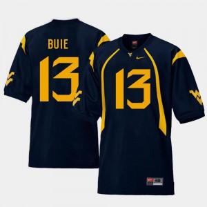 West Virginia Mountaineers Andrew Buie Jersey #13 Men College Football Navy Replica