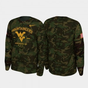 West Virginia Mountaineers T-Shirt Mens Legend Long Sleeve 2019 Veterans Day Camo